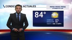 <p>Condiciones de fin de semana con probabilidad de lluvia.</p>