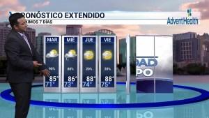 <p>Condiciones de lluvia para el centro de la Florida</p>