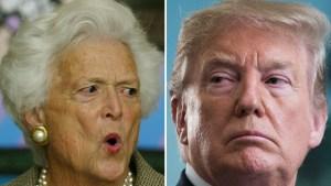 Hasta dónde llegó la aversión de Barbara Bush a Trump