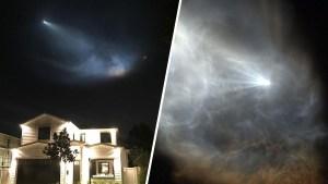 Fotos: cohete ilumina el cielo y deja estelas espeluznantes