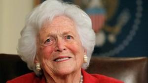 Exprimera dama Barbara Bush se encuentra grave