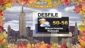Las Condiciones del Tiempo para el 25 de Noviembre con Andrea Romero del Equipo Primera Alerta