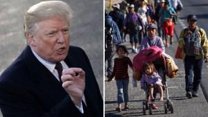 Trump usa Thanksgiving para amenazar a la caravana
