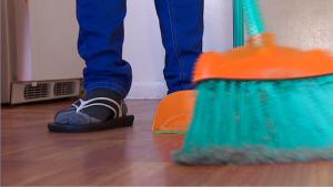 Estafa, empleos de limpieza
