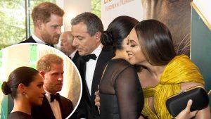"""Encuentro de """"reinas"""": Meghan conoce a Beyoncé en el estreno de """"The Lion King"""""""