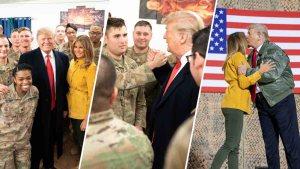 En fotos: el primer viaje de Trump a una región en guerra