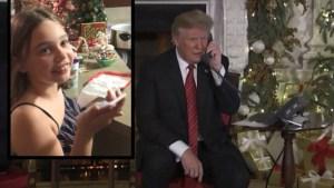 La insólita charla entre Trump y una niña de 7 años