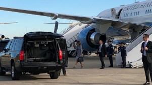 Avión de Melania Trump sufre falla en viaje a Filadelfia
