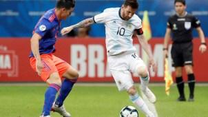 El pase de Messi que generó peligro