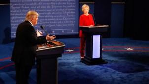 Cara a cara, Clinton y Trump mostraron sus diferencias