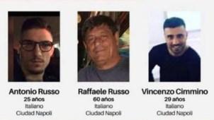 Amplían búsqueda de tres italianos desaparecidos