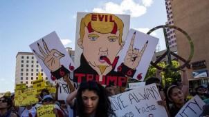 Tensas protestas contra Trump en Nuevo México