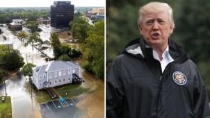 Trump visita zona devastada por Florence