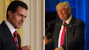 EPN y Trump hablarán sobre lo que los separa
