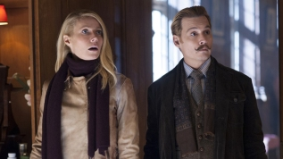 "Johnny Depp y Gwyneth Paltrow en una escena de ""Mortdecai""."
