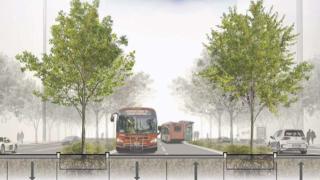 Proponen carriles exclusivos para transporte urbano en K Street