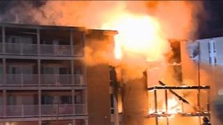 Localizan a familia a salvo tras incendio de apartamentos