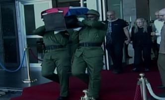 Viuda e hijos de Fidel Castro aparecen en funeral