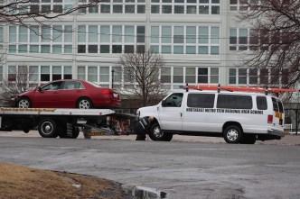 Accidente con camioneta de transportación en Revere