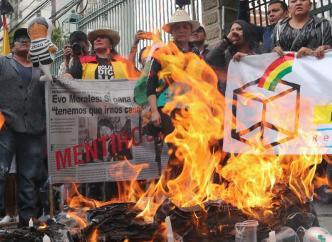 Huelga en Bolivia en rechazo a la reelección de Morales