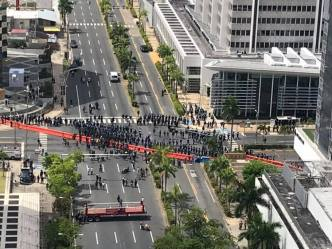 Manifestación termina sin violencia
