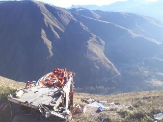 Bolivia: 14 muertos y 21 heridos en un accidente de tráfico