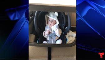 Viral: reacción de un bebé dentro de lavado de autos