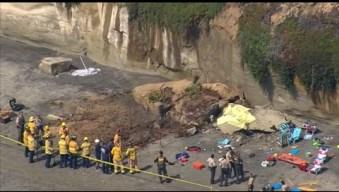 Deslave de acantilado: tres muertos y dos heridos