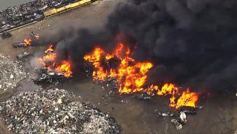 Alerta por masivo incendio en Jersey City
