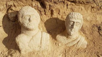 Jerusalén: bustos de 1,700 años expuestos por las lluvias