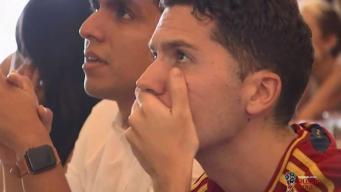 Aficionados en DC disfrutan del juego España - Portugal