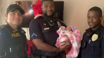 Al rescate: oficiales asisten parto en plena calle de Laurel