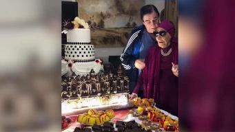 Alicia Alonso celebra su cumpleaños con enorme ponqué en Cuba