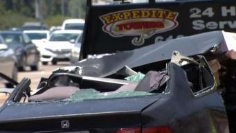 Aparatoso accidente en autopista 805