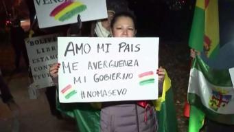 Bolivianos del DMV continúan protestas contra Morales