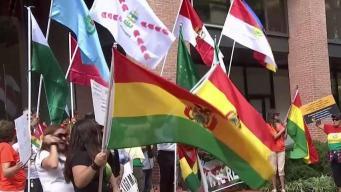 Bolivianos en DC se unen a paro nacional