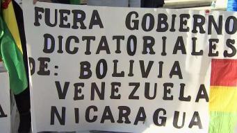 Bolivianos en DMV protestan contra Morales frente a la OEA