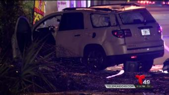 Buscan a conductor que provocó brutal choque en Tampa