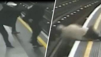 Horror en el metro: anciano es empujado a los rieles