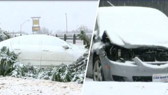Decenas de accidentes viales al norte de Texas por nevada
