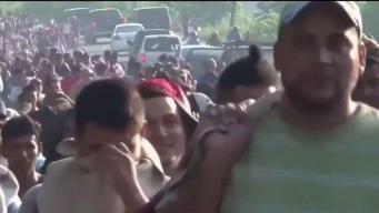 Comunidad reacciona a la caravana de migrantes