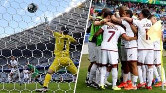 Venezuela pasa a cuartos de final al vencer 3-1 a Bolivia