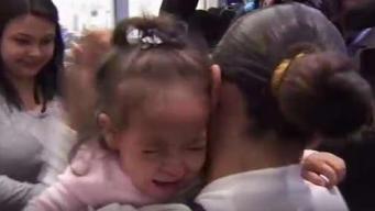 Desgarrador: madre se reencuentra con su beba
