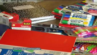 Donación de útiles escolares inicia con éxito