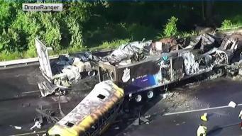 Dos muertos en accidente de autobús en Hartford