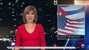 EEUU cierra oficina de inmigración en La Habana