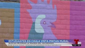 Embellecen con mural en Chula Vista