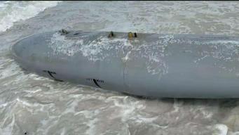 Encuentran misil en una playa de Pinellas