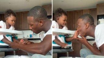 Video adorable: Bombero de Nueva York hace pedicura a su hija