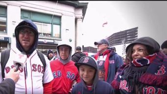 Fanáticos salen en multitudes a apoyar a los Red Sox